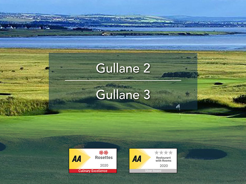 Image for 2 night Golf Package dinner, bed and breakfast with 2 rounds of Golf Gullane 2 & Gullane 3 Only £174 per person